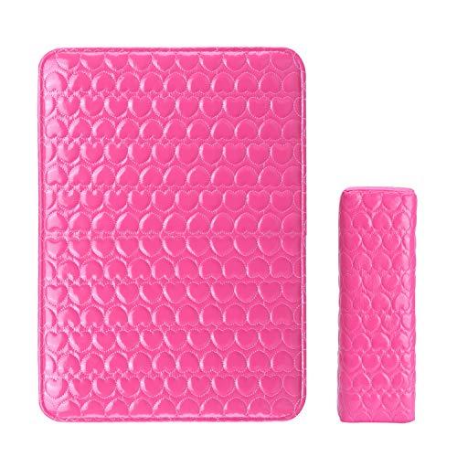 Noverlife软PU皮美甲艺术设计手枕垫,美甲沙龙美甲手枕海绵座垫,人造皮革矩形手枕