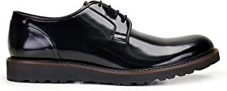 6714-704 KEXL YILDIZ DESENLI-Spaz Siyah 301 Nevzat Onay Bağcıklı Siyah Günlük Deri Erkek Ayakkabı