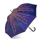 Paraguas Largo Mujer automático DEVOTA Y LOMBA Estampado Ribons (Azul)