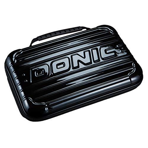 Donic Tischtennis Schlägerkoffer Hardcase - in 2 Farbvarianten (schwarz)