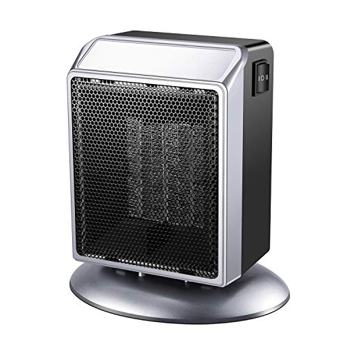 Ceramic Space Heater, 500W / 900W Small Portable Electric Heater for Office, Home, Desks, Tabletops Ceramic Heater Space