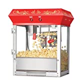 Great Northern Popcorn Red 6 oz. Ounce Foundation Old-Fashioned Movie Theater Style Popcorn Popper