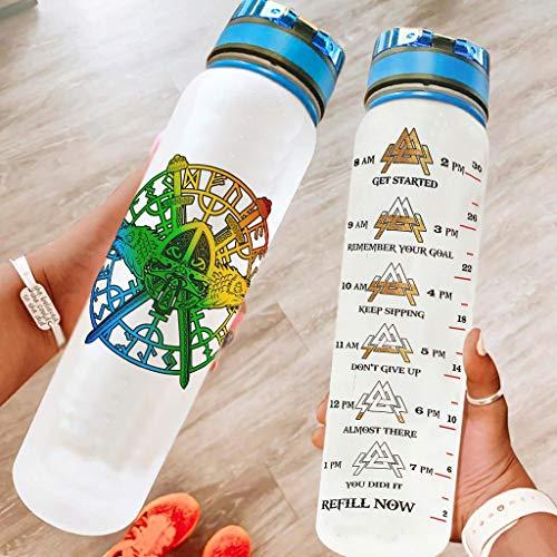 LIFOOST Botella deportiva, duradera, a prueba de fugas, duradera, apta para lounge para cumpleaños, color blanco, 1000 ml