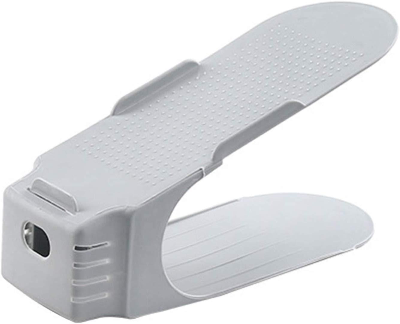 Organizador de Calzado Zapato con Ranura Ajustable Ahorro de Espacio de Almacenamiento Negro Hifeel 8PCS Soporte de Calzado con Ranura Ajustable para Ordenar