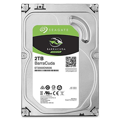 Seagate Barracuda 2TB interne Festplatte (8,9 cm (3,5 Zoll), 64MB SATA 6GB/s bis 210MB/s) silber