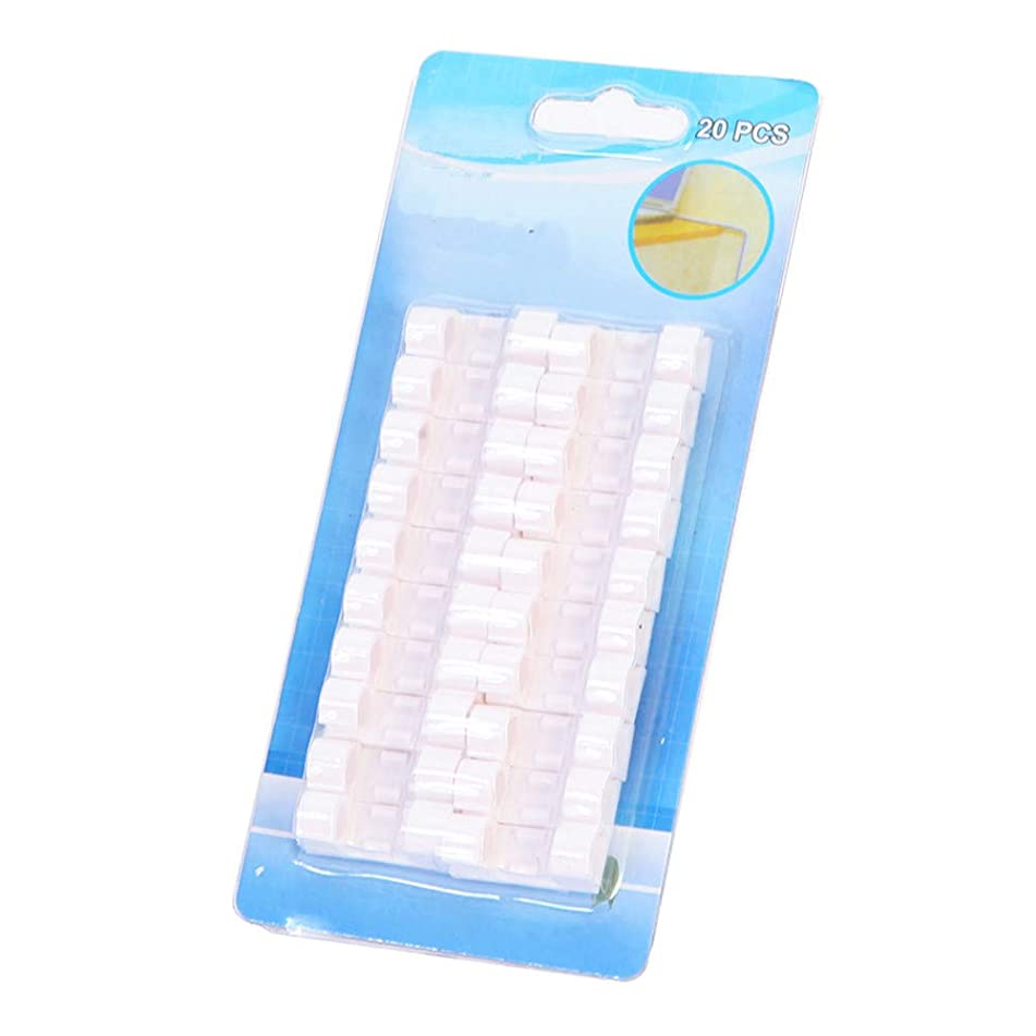 Yu2d ???? 20pcs Self-Adhesive Cable Clips Organizer Drop Wire Holder Cord Management(White)