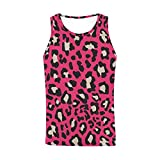 InterestPrint Men's Gym Bodybuilding Stringer Tank Top Fitness Sleeveless Vest Animal Leopard Prints S