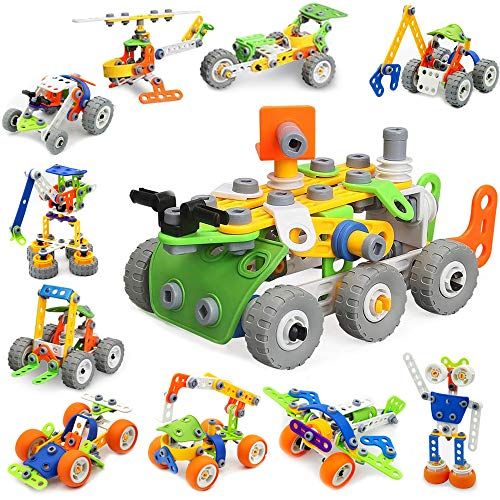 175 Pieces STEM Toys Kit/ Building Block Kit for Kid, 11-in-1 Educational Engineering Build Blocks Learning Set for Ages 3 -12 Year Old Boys&Girls, Best Kids Toy, Creative Games & Fun Activity