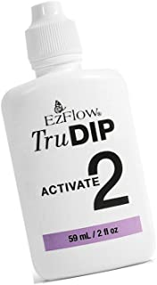 New TruDIP - 3-Step Acrylic Dip System Step 2 - ACTIVATE Brush-on activator is used to 'cure' the base and acrylic dip powder mixture to build a strong, durable nail enhancement : 2 fl.oz