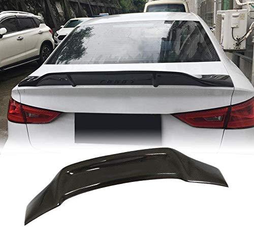 DBDSZYH Heckklappenspoiler für Audi A3 8V Base & A3 Sline & S3 & RS3 Limousine 2014–2019 Carbonfaser Racing Wing Lip Refit Bodykits