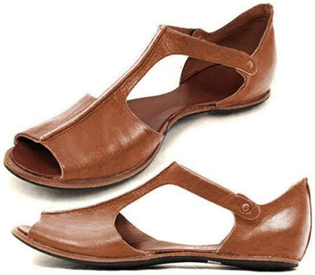 Flat Slide Sandals For Women Dressy Daily Special price for a limited time bargain sale Fashion Solid Peep Retro Toe