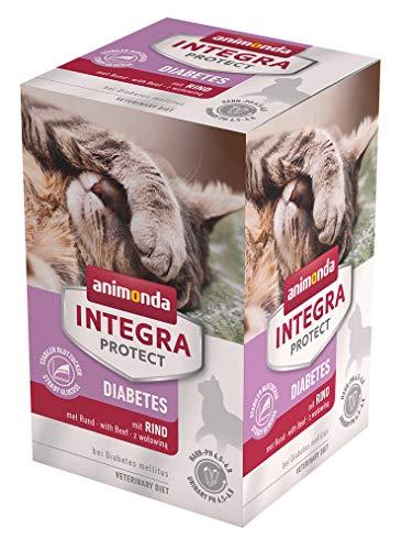 animonda Integra Protect Diabetes Katze, Diät Katzenfutter, Nassfutter bei Diabetes mellitus, mit Lachs, 6 x 100 g
