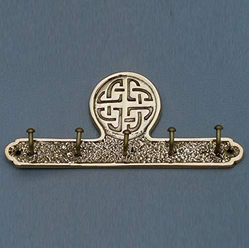 Robert Emmet Brass Celtic Design Key Holder with Set of 5