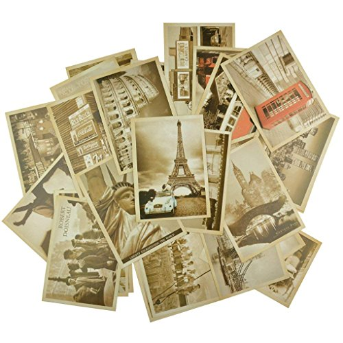 Dxhycc 32 PCS 1 Set Vintage Retro Old Travel Postcards for Worth Collecting
