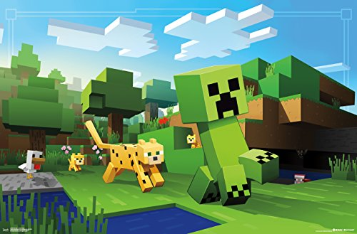 Trends International Minecraft Ocelot Chase Wall Poster 22.375' x 34'