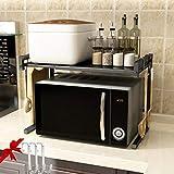 Froggen Estante de Horno para microondas, Soporte Extensible para Microondas Estante para Horno de sobre encimera de Cocina Estanteria 40~60x36x42cm