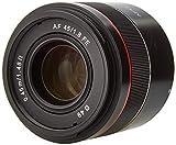 Samyang AF 45 MM F1.8 FE Sony E - Objetivo de Formato Completo para cámaras Sony Alpha sin Espejo (Montura FE y E, Formato Completo, Sensor APS-C, Rosca de 49 mm)