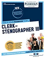 Clerk-stenographer III (Career Examination)