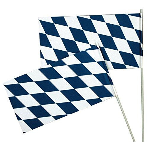NET TOYS Oktoberfest Fahne Bayern Flagge Wiesn Bayernfahne Bierzelt Bayernflagge Party Deko Fähnchen Mottoparty Raumdeko Bayernraute Partydeko Bayrisch