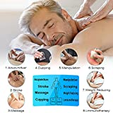 Electroestimulador Digital Portatil, 8 Modos Masaje Estimulador Muscular Masajeador Electro, 8 Autoadhesivos Electrodos Pantalla LCD Azul Estimulación Electroterapia Relajación Para Espalda, Rodilla