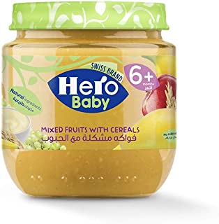 Hero Baby Mixed Fruits with Cereals Jar, 125 gm