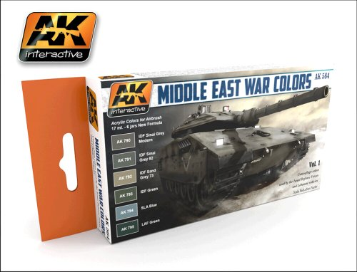 AK Interactive - Middle East War Colors Vol 1 - AK00564
