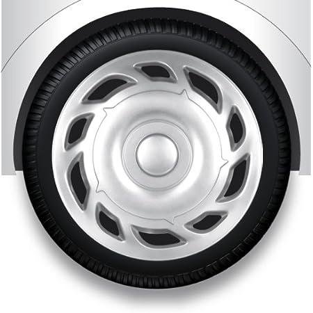 Zentimex Z732349 Radkappen Radzierblenden Universal 12 Zoll Silver Auto