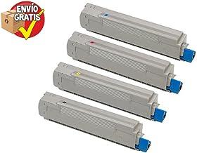 PACK 4 COLORES OKI TONER C5650 Series / C5750 Series Compatible ( 1 BK / 1 C / 1 M / 1 Y ) ALTA CALIDAD - ENTREGA GRATIS 24/48h