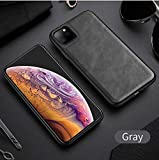NiceGuu Ultra Light Leather Case for iPhone 11 Pro Max Soft Silicone Edge Back Phone Cover for iPhone Xs XR XM 7 8 Plus (Gray, for iPhone X XS)