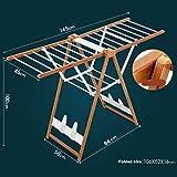 Tendedero para Ropa - Tendedero de Acero con alas Plegables 3 Tendedero de Torre...