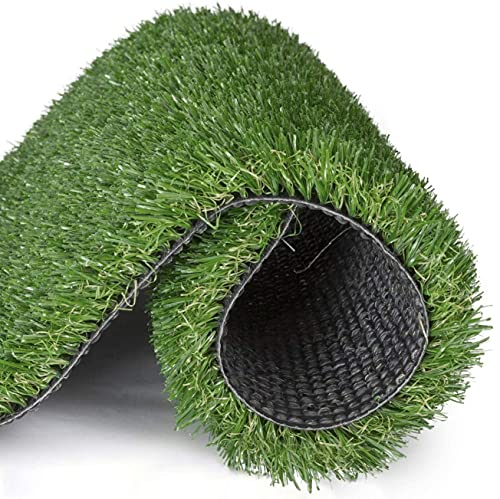 Artificial lawn Artificial Grass for Dogs Synthetic Turf Rug Indoor Outdoor Landscape Pet Area 2'x4', Dark Green