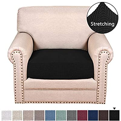 H.VERSAILTEX Super Stretch Stylish Furniture Cover/Cushions Covers Slipcover Spandex Jacquard Small Checked Pattern Super Soft Slipcover Machine Washable Individual