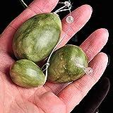 3 unids/set Green Quartz Yoni Jade Women Kegel Ejercitador