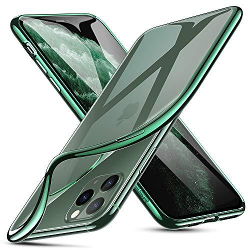 ESR Cover per iPhone 11 PRO Max, Essential Zero Compatibile con iPhone 6.5 2019, TPU Morbido Trasparente, Custodia in Silicone Flessibile per iPhone 11 PRO Max da 6.5 Pollici (2019), Cornice Verde