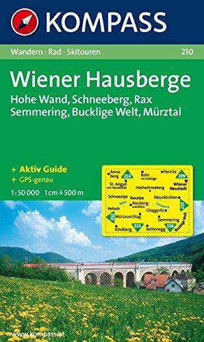 Wiener Hausberge, Rax, Schneeberg: Wander-, Rad- und Skitourenkarte. GPS-genau. 1:50.000