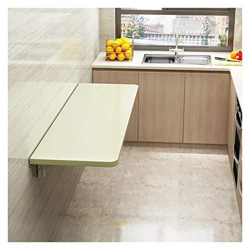 GHHZZQ Mesa Plegable para El Hogar Escritorio de Pared Ahorro de Espacio Banco de Trabajo Pequeño con Soportes Metálicos por Cuarto Cocina Balcón (Color : B, Size : 80x50cm)