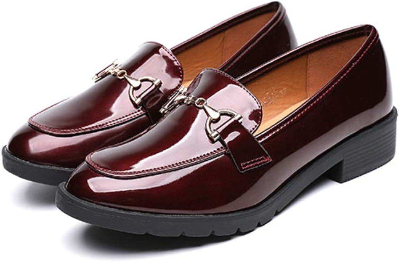 DANDANJIE Damenschuhe Fallen Comfort Loafers & Slip-Ons Chunky Ferse Geschlossenen Zehen Schuh