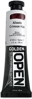 Golden Artist Colors Open 2 Oz Acrylic Color Paints, Alizarin Crimson Hue