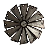 metal windmill wall decor| farmhouse decor on a budget
