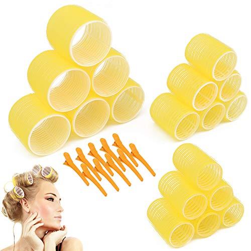 Jumbo Size Hair Roller sets, Self Grip, Salon Hair Dressing Curlers, Hair Curlers, 3 Size 36 Packs (6XJUMBO+6XLARGE+6XMEDUIEM)