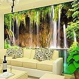 Papel tapiz mural personalizado decoraciones de pared no tejidas sala de estar sofá dormitorio papel tapiz de fondo papel de pared paisaje 3D cascada