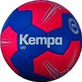 Kempa Leo balón de Entrenamiento Balonmano, Azul océano/Rojo lighthou, 2