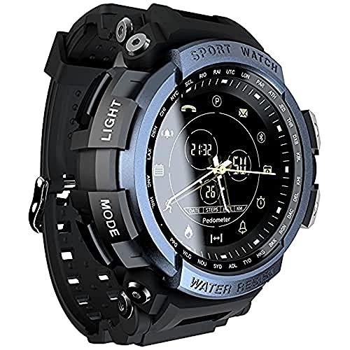 Sunton Reloj inteligente deportivo, rastreador de actividad física, recordatorio reloj digital reloj inteligente para hombres y mujeres (azul)