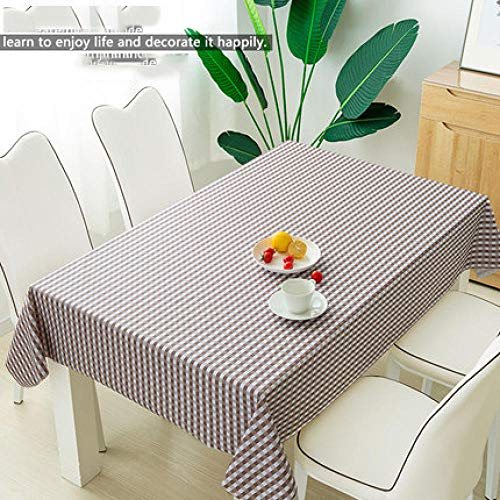 Traann tafelzeil, vierkant, waterdicht, langwerpig, rechthoekig tafelkleed, woondecoratie voor feestjes, bruiloft, effen 120*160 J