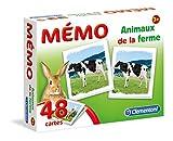 Clementoni- Memo Animaux de la Ferme-Jeu éducatif, 52292