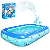 Betheaces Inflatable Pool with Dolphin Sprinkler - Swimming Pool Toys for Kids Toddlers Boys Girls Kiddie, Summer Pool Toys for Outdoor Indoor Garden Backyard Party
