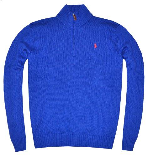 Polo by Ralph Lauren Men Half-Zip Pullover (XX-Large, Active Blue)