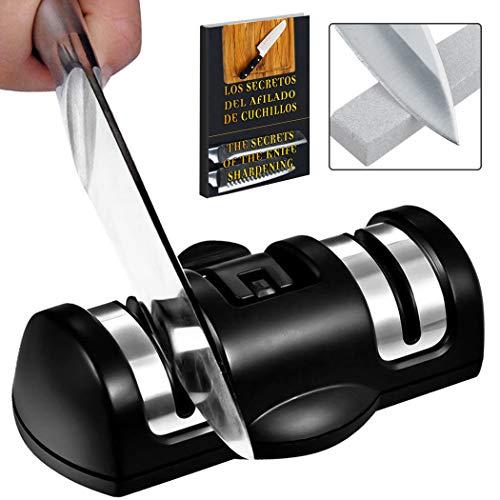 Messer schärfen Profi 2 Stufen Grobpolieren und Feinpolieren Diamant und Keramik mit Saugnapf Knife Sharpener messerschärfer Profi Küchenmesser