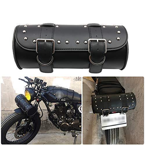 KYN - Borsone Universale per Manubrio Moto Sissy Bar Laterale, in Pelle PU