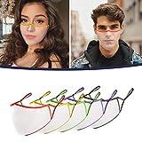 5 Piezas Adulto_MASK_Mascarillas Visera Transparentes duradera Escudo facial Para la protección para Mujeres y Hombres para Deportes Al Aire Libre de 5 Colores